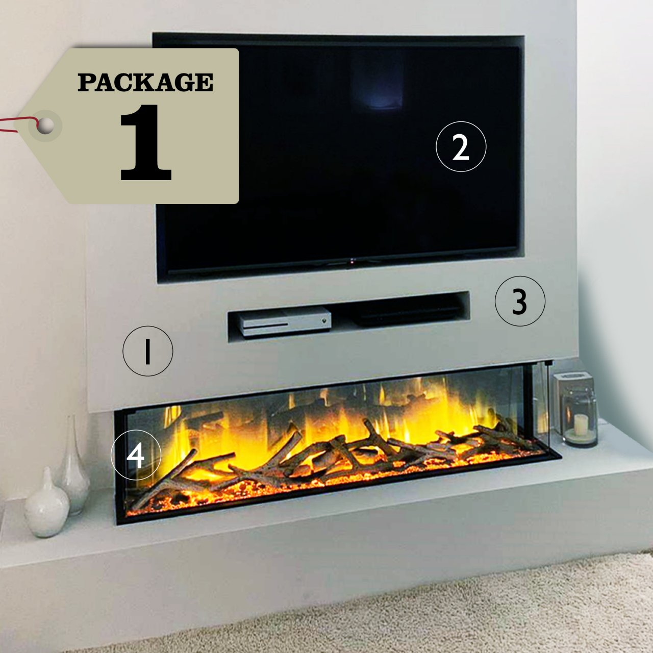 Media Wall & Fireplace Package Offer 20   Includes UK Installation ...