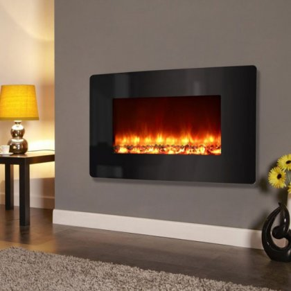 Electriflame XD Curved Black Glass