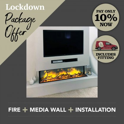 Media Wall & Fireplace Package Offer 1 - Includes UK Installation