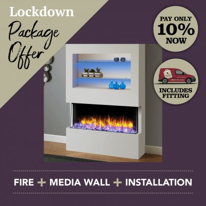 Media Wall & Fireplace Package Offer 2 - Includes UK Installation