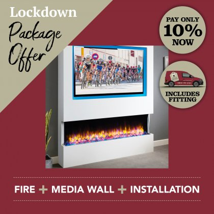 Media Wall & Fireplace Package Offer 3 - Includes UK Installation