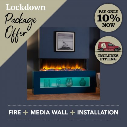 Media Wall & Fireplace Package Offer 4 - Includes UK Installation