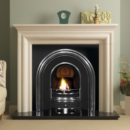 Wenlock Limestone with Cast Insert Fireplace