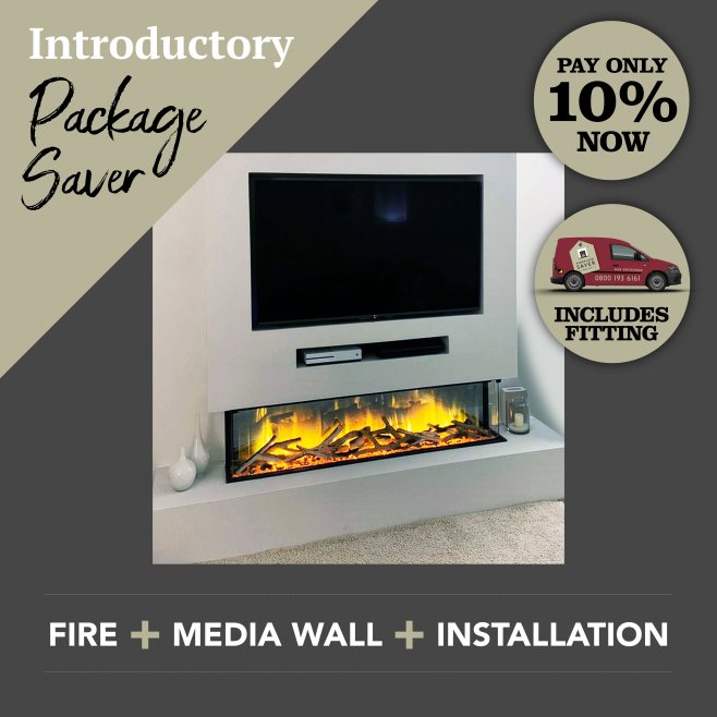 Image of Media Wall & Fireplace Package Offer 1 - Includes UK Installation